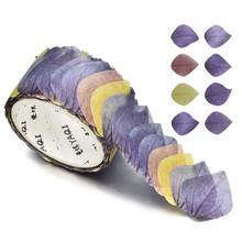 200PCS/Roll Sticker Adorable Flower DIY Scrapbook Petals Decal Tape