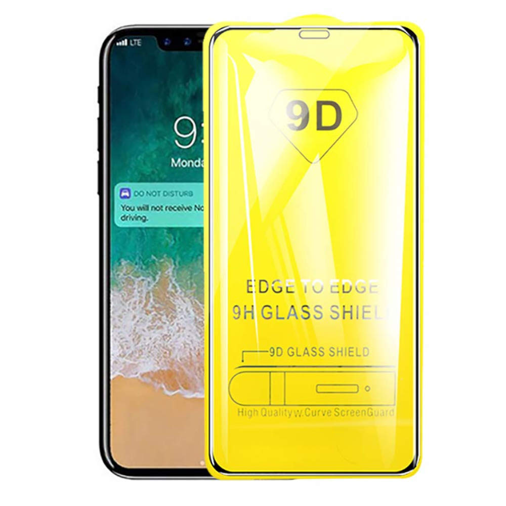 Image 2 - 9D 9H Tempered Glass for iPhone 11 Pro Max Xs Max Xr X 6 6S 7 8 Plus 5 5S SE Full Cover Screen Protector for iPhone 11 Pro Glass-in Phone Screen Protectors from Cellphones & Telecommunications