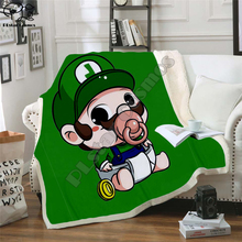 Kids Super Mario Cartoon Blanket 3d soft Flannel Fleece Blanket anime sonic Print Children boy girl Warm Bed Throw Blanket 005