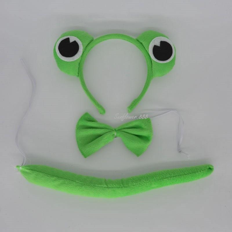 Детская повязка на голову с ушками животных для мальчиков и девочек; комплект с галстуком-бабочкой и хвостом для детей и взрослых; карнавальный костюм; вечерние аксессуары для волос - Цвет: 26