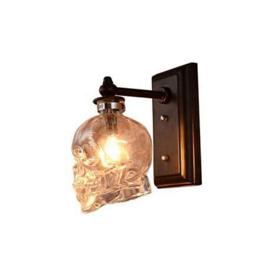 Loft American retro Nordic creative industrial wind glass skull wall lamp aisle staircase decoration bar wall lamp|LED Indoor Wall Lamps| |  -