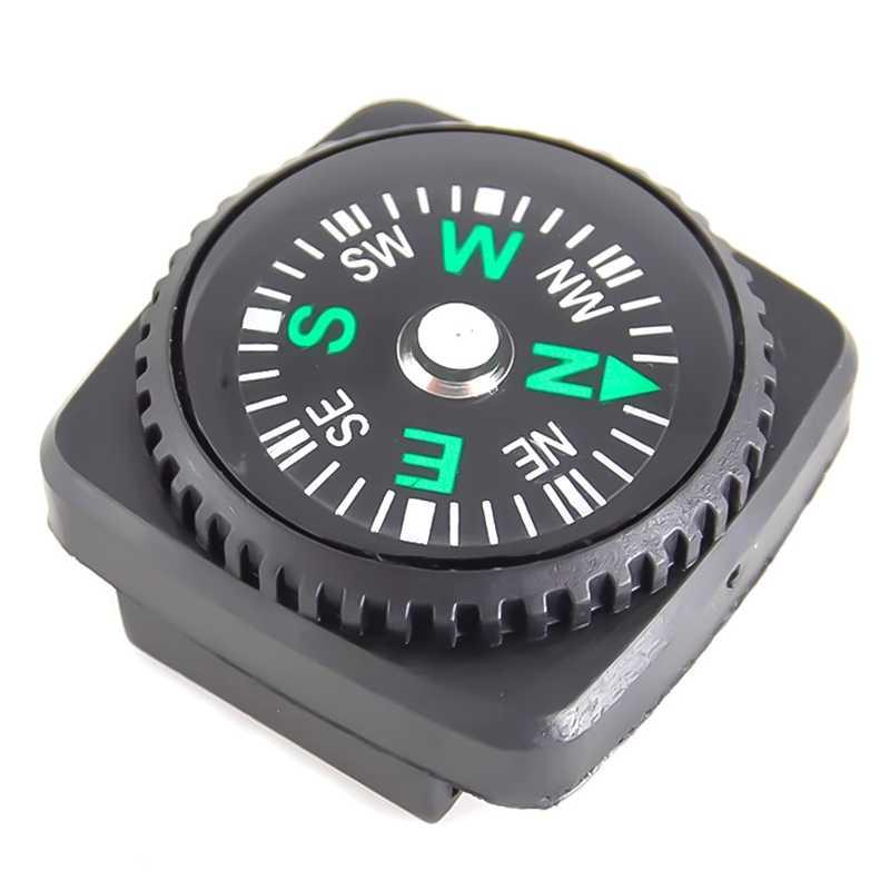 防水コンパスとホルスター時計バンド Paracord ブレスレットナビゲーション黒キャンプハイキング緊急サバイバルアクセス