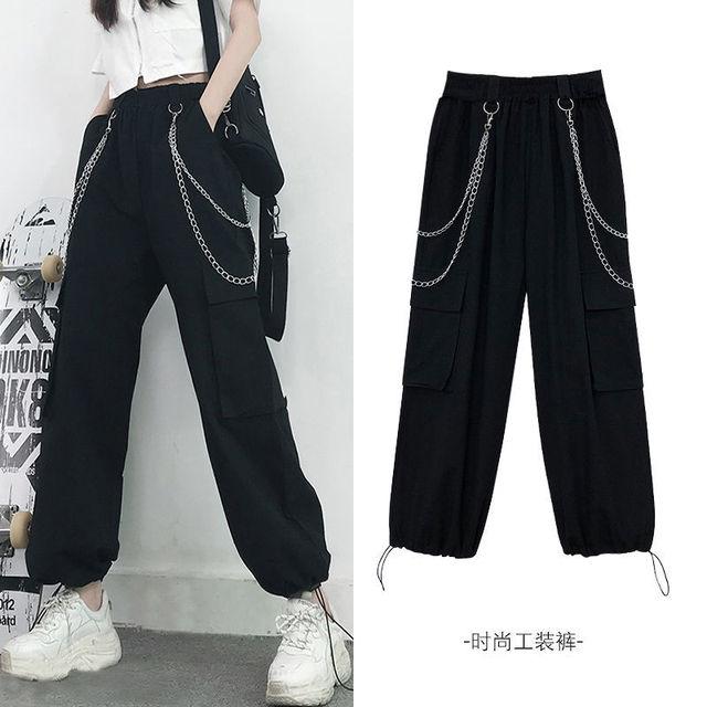 женские летние свободные брюки с завышенной талией фотография