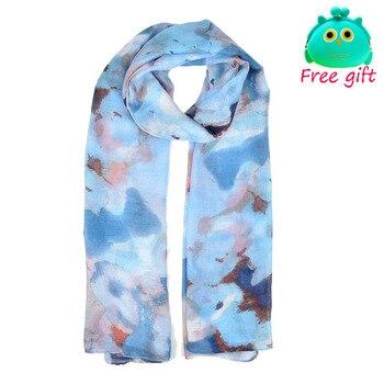 Nueva llegada de YILIAN, diseño de moda para mujeres, impreso, patrón de flores coloridas, bufandas largas y finas SF865