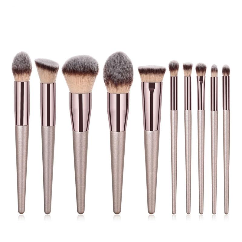Eyes Dancing Champagne Makeup Brushes For Foundation Powder Blush Eyeshadow Brush Concealer Lip Eye Cosmetics Beauty Tools