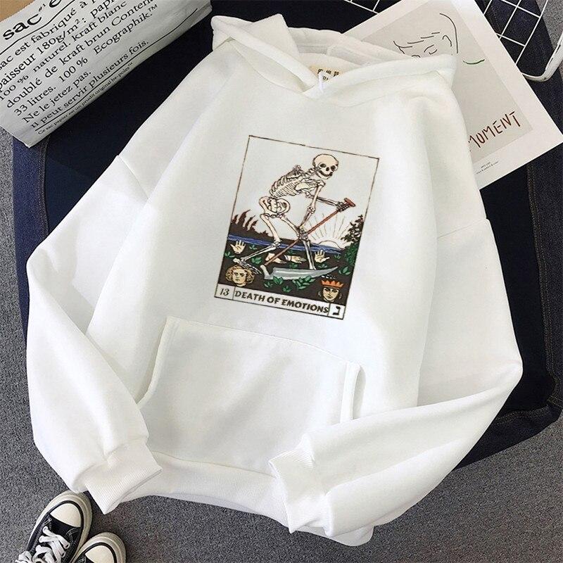 Print Anime Skull oversized Women Sweatshirt Kawaii Hoodies Hoody korean style Pullovers Female Full Sleeve top harajuku clothes 1