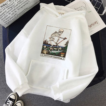 Impressão anime crânio oversized camisola feminina kawaii hoodies com capuz estilo coreano pullovers feminino manga completa superior harajuku roupas