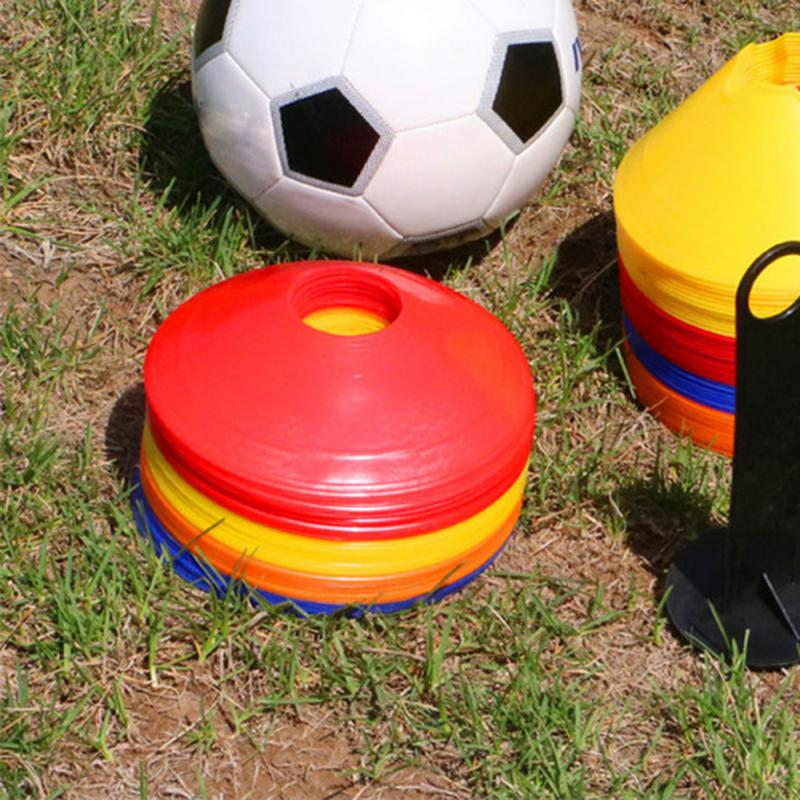 1pc High Quality Soccer Training Sign Dish Pressure Resistant Cones Marker Discs Marker Bucket Sign Plate PVC Sports Accessories