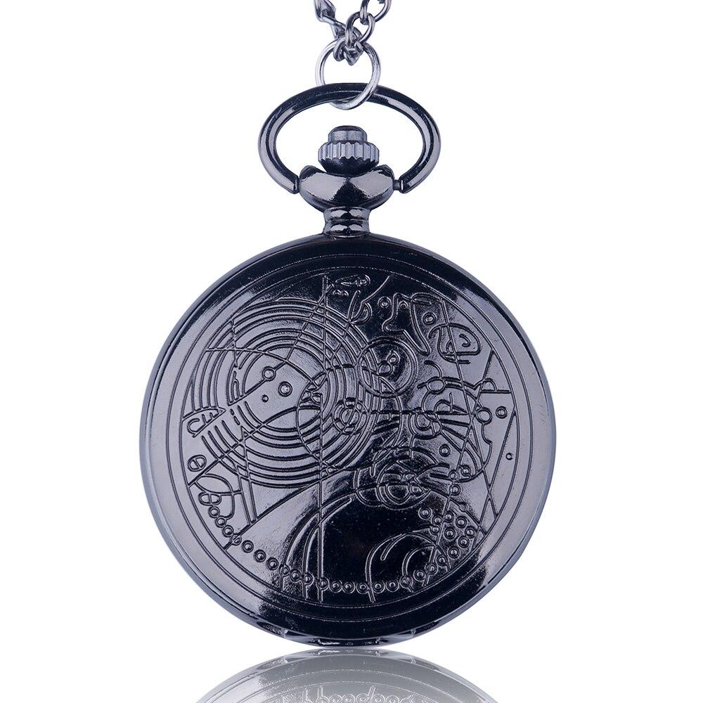 Vintage Bronze Doctor  Who Quartz Pocket Watch Fashion Style Best Gift Necklac Pendant Steampunk