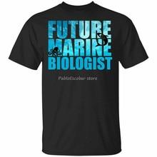 Будущий морской биолог-океан исследование футболка Размеры S-3Xl свободного размера плюс Размеры? Футболка для мужчин брендовая футболка лет...