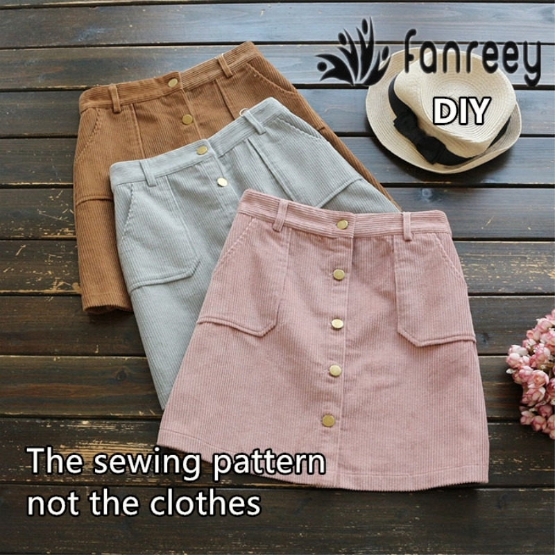 Ladies' Short Skirt Sewing Pattern Template Cutting Drawing Clothing DIY M43