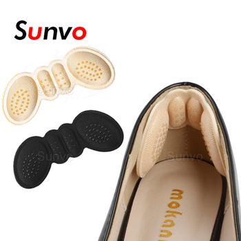 Wkładki do butów damskich wysokie podpiętka dopasuj rozmiar samoprzylepne obcasy podkładki wkładki liniowe naklejka ochronna ulga w bólu wkładka do pielęgnacji stóp tanie i dobre opinie Sunvo COTTON CN (pochodzenie) Poduszka pod śródstopie Butterfly Heel Insole Pad Lady Women Heel Pad Shoe pads for women