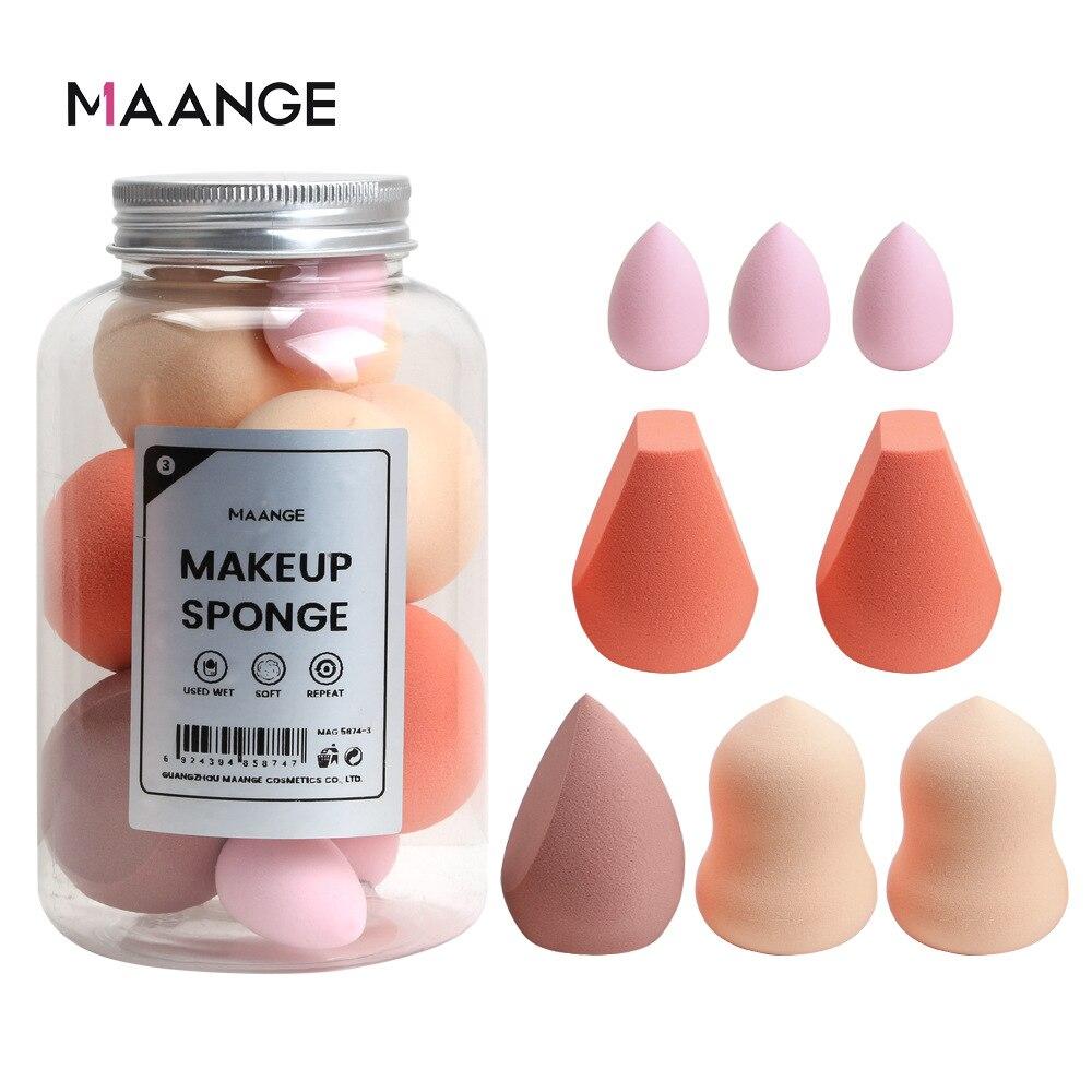Губка для макияжа в форме яйца, набор из 8 предметов, фон для красоты кожи, крем, косметика