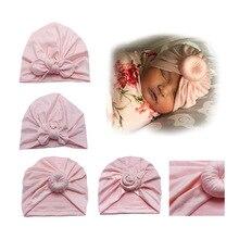 Newborn Toddler Baby Girl Turban hat Bowknot Donut beanies Knot Beanies Warm Hat Hospital Winter Cap Accessories H080S