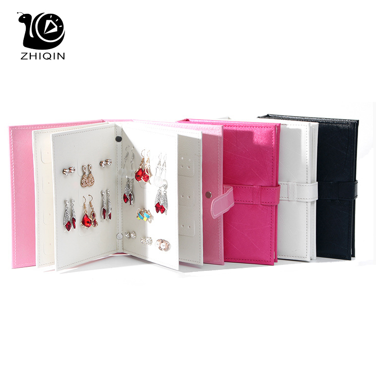 PU Leather Earrings Organizer Collection Book Jewelry Earring Storage Book Creative Jewelry Display Holder Jewelry Storage Cases