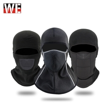 WOSAWE Motorcycle Face Mask Headwear Autumn Winter Thermal Fleece Shield Moto Balaclava Windproof Cycling Ski Scarf