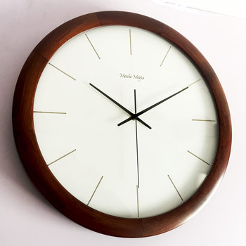 Nordic Large Modern Wall Clock Solid Wood Retro Japanese Luxury Wall Watches Home Decor Living Room Relogio De Parede Gift FZ733