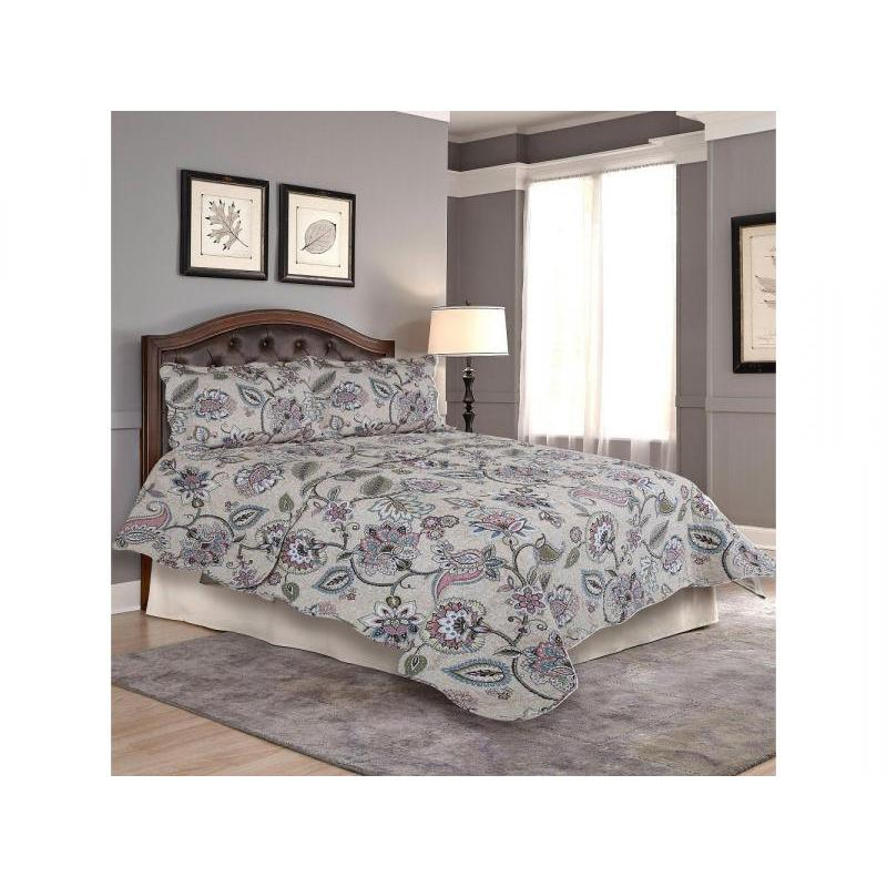 Bedspread полутораспальное Amore Mio, 170*220 cm, beige, with наволочкой все цены