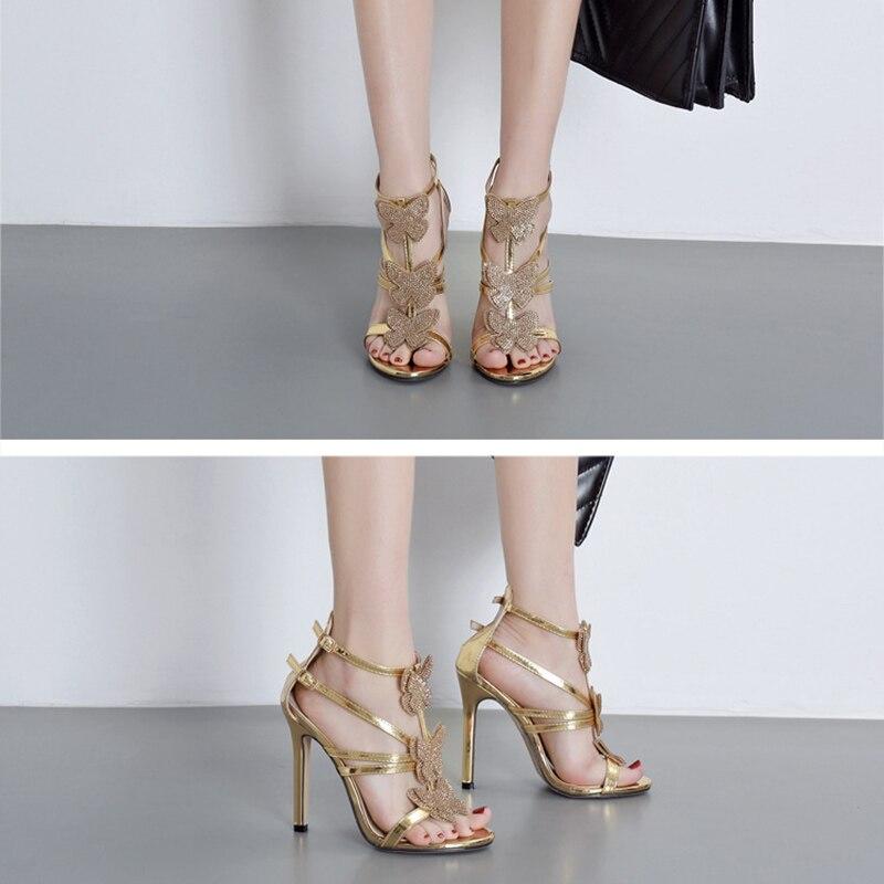 Elegant Hollow Roman Sandals Women Shoes Fashion Rhinestone Bow Women High Heel Shoes Sexy Heels Ladies Wedding Shoes VT1093 (14)