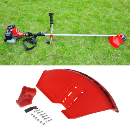 Kits Protection Cover Trimmer Plastic Red 26cm Guard Brushcutter SHIELD Accessories With Blade Grass For Straight Shaft Machine