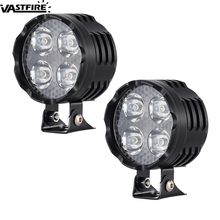 1 Or 2PCS Super Bright 3 Modes 40W 3000LM Motorcycle Spot Light LED Driving Headlight Motorbike Moto Head Fog Lamp