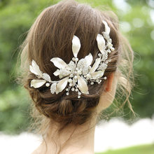 Mixed Style Headpiece Hair Clip Comb Rhinestone Pearl Wedding Headband Bridal Hair Accessories Jewelry(China)