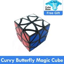 ZCUBE Curvyผีเสื้อMagic Cubeสิบสองเพลาดอกไม้กลีบเฮลิคอปเตอร์Cubeปริศนาการศึกษาของเล่นDrop Shipping