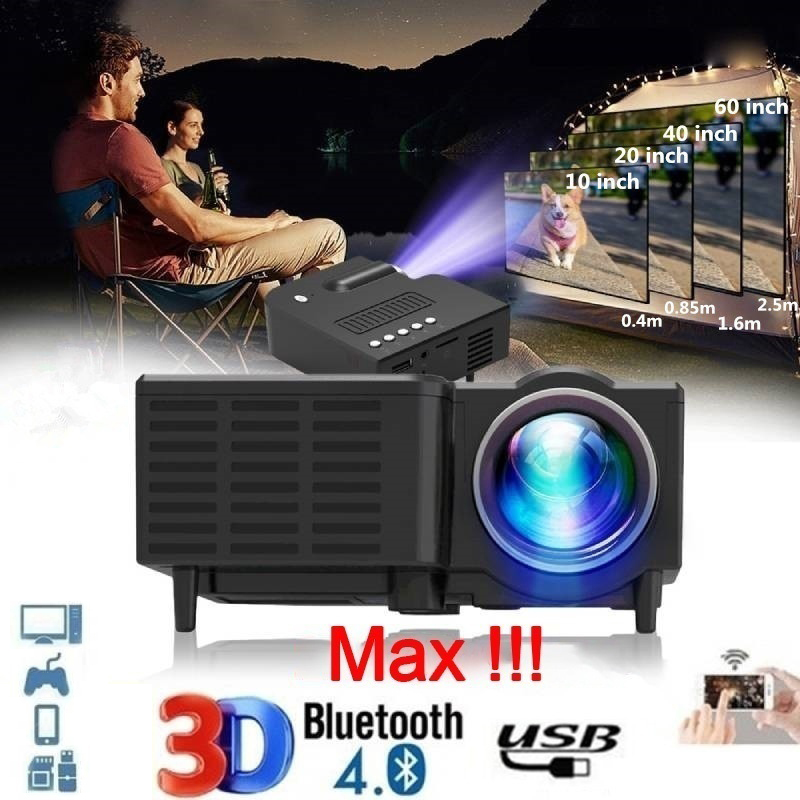 Micro Home Theater Projector Portable Entertainment Mini Projectors Supports 1080P HD Outdoor Mobile Phone Connection Projectors