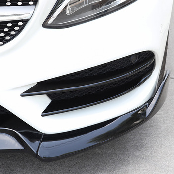 New Car Front Bumper Lip Splitter Spoiler Sticker for Mercedes Benz C Class W205 C180 C200 C220 C250 C300 C350 C400 C450 image