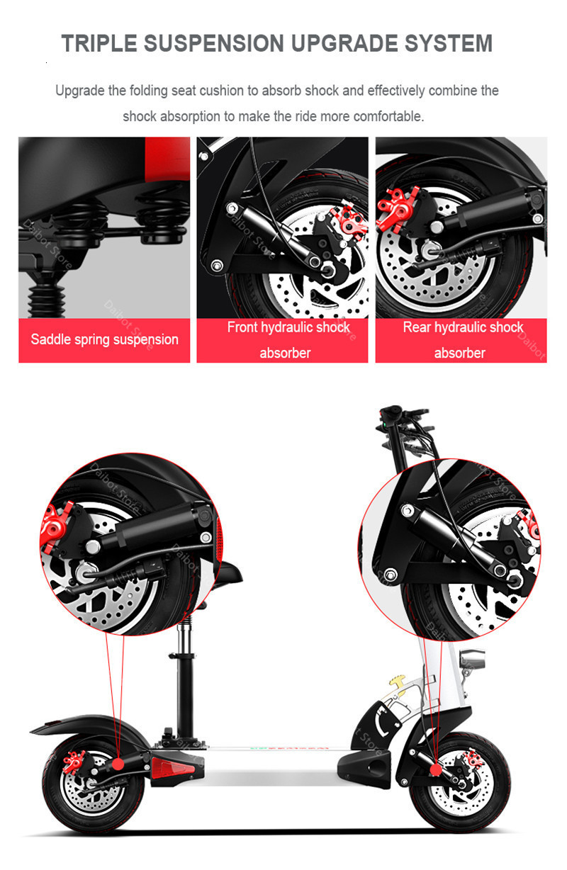 1200W 60V Electric Scooters Adults Two Wheels Electric Scooters High Speed 60KMH Folding Powerful Electric Bike With Seat (40)