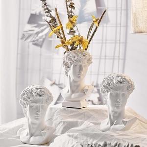 Home Decoration Resin Art Crafts Greek Statue Mythology David Head Bust Mini Europe Michelangelo Sculpture Sketch Practice Gifts
