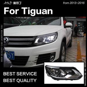 АКД автомобильный Стайлинг для VW Tiguan фары 2013-2016 Tiguan светодиодные фары DRL Hid головной фонарь Angel Eye Bi Xenon аксессуары