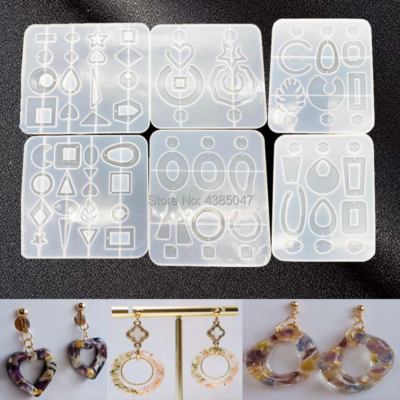 New Arrival 6 Styles Earring Mold UV Resin Epoxy Molds Jewelry Tools DIY Handcraft Jewelry Accessories