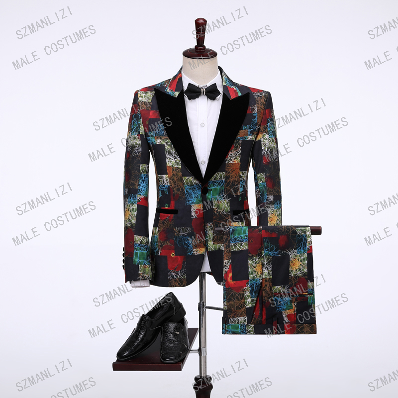 New Design 2019 Elegant Groomsmen Slim Fit Suit Men Costume Homme Prom Tuxedo Suits For Men Wedding Groom Best Man Blazer