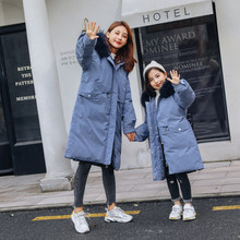HSSCZL girls duck down jackets 2019 new winter thicken girl down coat children's clothing outerwear overcoat hooded natural fur(China)