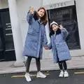 HSSCZL meisjes duck down jassen 2019 nieuwe winter thicken meisje down jas kinderkleding bovenkleding jas hooded natuurlijke bont