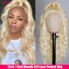 Blonde 613 Lace Front Wig 13x6 HD Transparent Lace Frontal Wig Body Wave Peruvian Lemoda Remy Human Hair Wig 150 180 220 Density