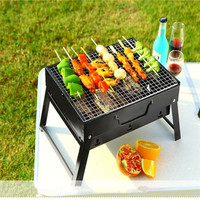 Outdoor Foldable BBQ Charcoal Grill Portable Barbecue Camping Hibachi Picnic