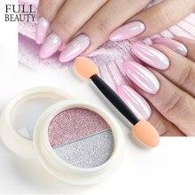 Poudre de Chrome rose argent pour décoration des ongles, effet miroir solide métallique, Pigment bicolore brillant, CH1881