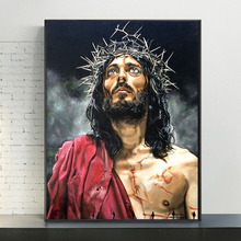 Abstract Portrait Of Jesus Canvas Paintings On the Wall Art Posters And Prints Jesus Art Canvas Pictures For Living Room Cuadros african large lions face canvas paintings on the wall art posters and prints animals lions art pictures for living room cuadros