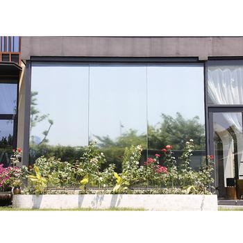 Sunice srebrny odblaskowy jednokierunkowy lustrzany film okienny Home office szkło budowlane naklejki kontrola ciepła anty-uv prywatność decor tanie i dobre opinie 80 -100 CN (pochodzenie) 20 -40 1inch 500cm Przednia Szyba Dekoracyjne folia i tatuaże Folie okienne i ochrona słoneczna