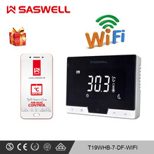 SASWELL WiFi smart thermostat Controller for Gas Boiler room thermostat weekly programmable work with SCU210DE/209DE(China)