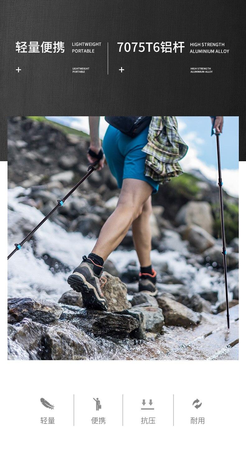 Naturehike liga de alumínio ultraleve trekking pólo