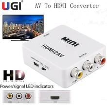 UGI RCA AV zu HDMI-kompatibel Konverter HDTV Video Audio Mini Adapter HDTV/DVD Für Nintendo Sega Genen NES Gamecube SNES N64