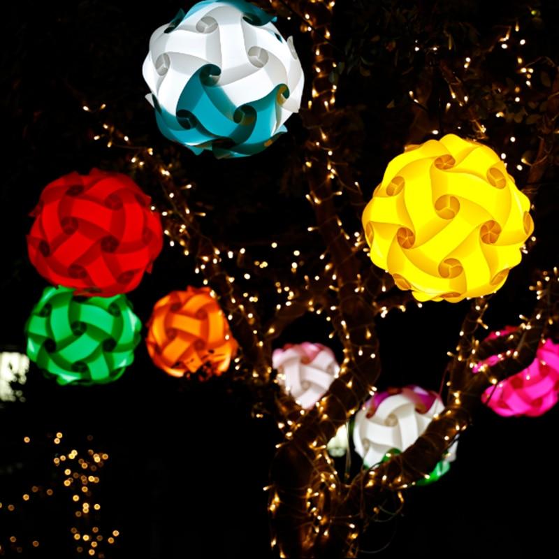 DIY Modern Ball Novelty IQ Jigsaw Lamp Puzzles Pendant Light Dia 30cm Free Shipping
