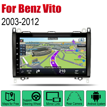 For Mercedes Benz Vito 2003~2012 NTG Android Car DVD GPS Navi  player Navigation Mulitmedia system audio stereo