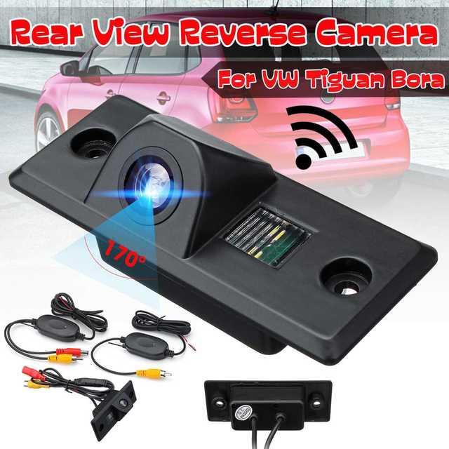كاميرا الرؤية الخلفية للسيارة اللاسلكية ، كاميرا احتياطية لوقوف السيارات العكسي لـ VW Golf Mk4 Bora Polo Passat Jetta Tiguan Bora Porsche Cayenne