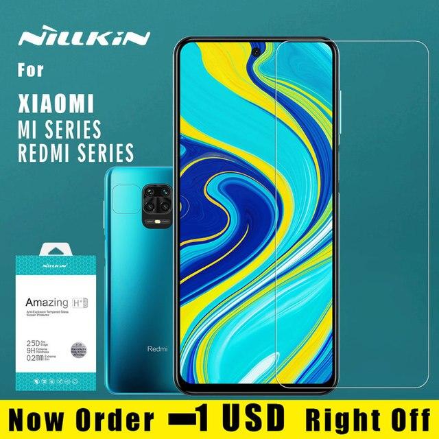 Nillkin ل شاومي Redmi نوت 9S 9 برو ماكس 8T 8 7 برو Poco X3 NFC Mi 10T برو 10 لايت 9 9T برو A3 الزجاج المقسى حامي الشاشة