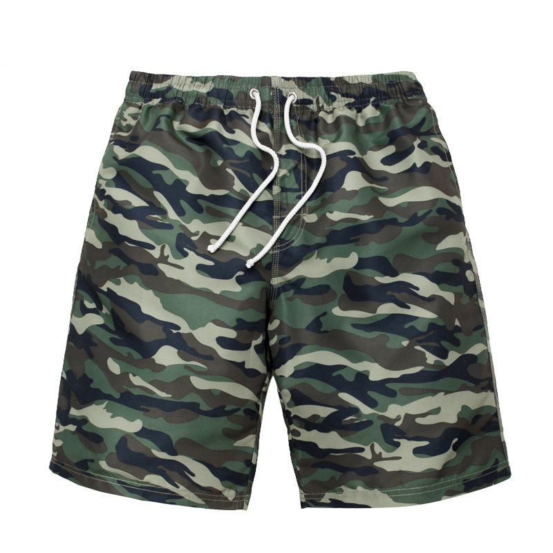 Chic Men Quick-Dry Beach Shorts Seaside Holiday Camouflage Casual Shorts Sports Large Size Shorts