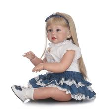 Free Shipping 70cm Silicone Reborn Baby Doll lifelike Big Size Princess Toy Christmas Birthday Gifts Infant